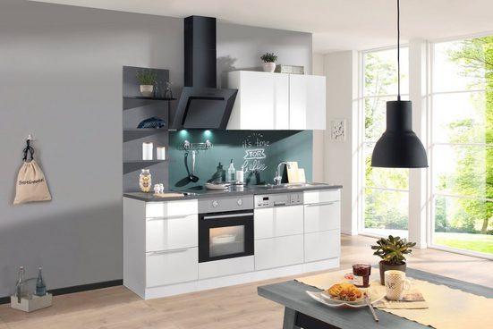 HELD MÖBEL Küchenzeile mit E-Geräten »Brindisi«, Breite 220 cm