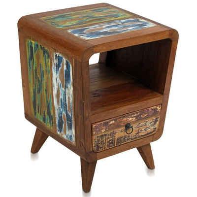 Oriental Galerie Mehrzweckschrank »Shabby Chic Schrank Kommode Nachttisch Telefonschrank Holz 55 cm« Handarbeit