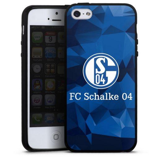DeinDesign Handyhülle »Schalke 04 Camo« Apple iPhone SE, Hülle FC Schalke 04 Muster Offizielles Lizenzprodukt