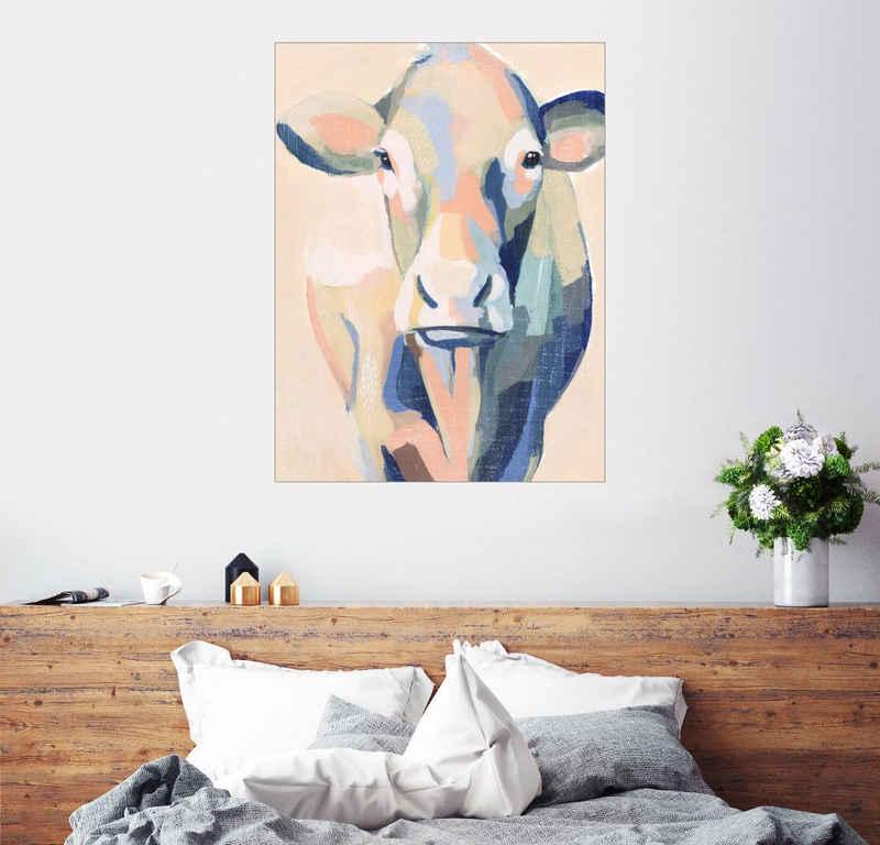 Posterlounge Wandbild, Beige Kuh II