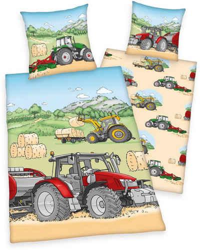 Kinderbettwäsche »Traktor«, Herding Young Collection, mit tollem Traktoren-Motiv