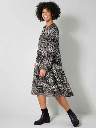 Angel of Style by HAPPYsize Sommerkleid mit kaschierenden Volants