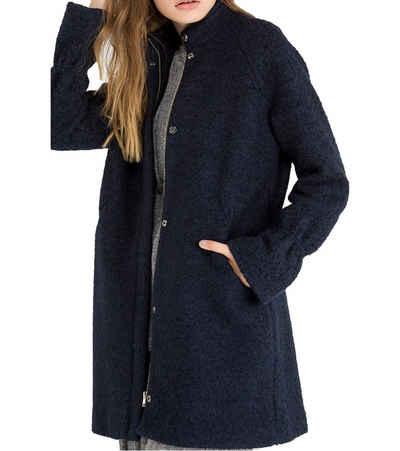 minimum Wintermantel »minimum Kurzmantel Palma stilvolle Damen Jacke mit Raglanärmel und Glocken-Bündchen Winter-Mantel Schwarz«