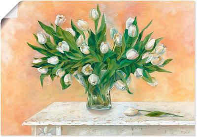 Artland Wandbild »Weiße Tulpen II«, Blumen (1 Stück), in vielen Größen & Produktarten - Alubild / Outdoorbild für den Außenbereich, Leinwandbild, Poster, Wandaufkleber / Wandtattoo auch für Badezimmer geeignet