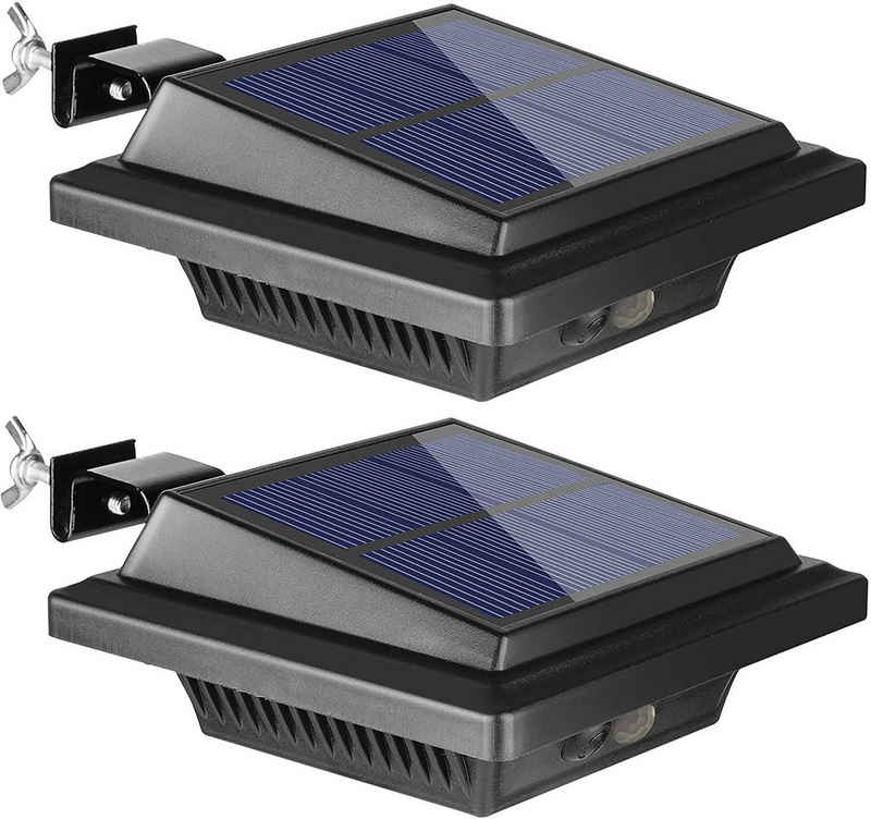 Home safety Dachrinnenleuchte »2Stk.40LEDs Dachrinne Solarleuchte mit Bewegungsmelder für Außen Warmweiß Licht«