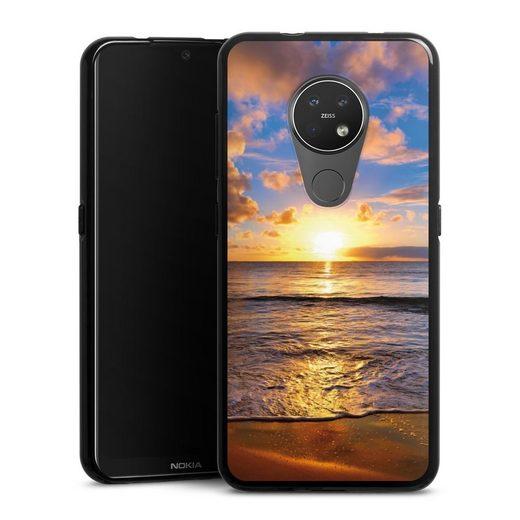 DeinDesign Handyhülle »Strand« Nokia 7.2, Hülle Meer Sonnenuntergang Urlaub