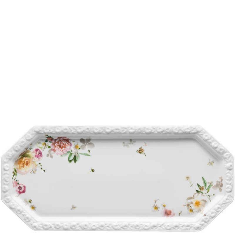 Rosenthal Kuchenplatte »Maria Pink Rose Kuchenplatte rechteckig«, Porzellan