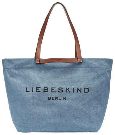 Liebeskind Berlin Shopper »Gray Denim Aurora Shopper L«, aus hochwertigem Jeansstoff