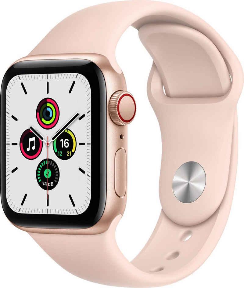Apple SE GPS + Cellular, Aluminiumgehäuse mit Sportarmband 44mm Watch, inkl. Ladestation (magnetisches Ladekabel)