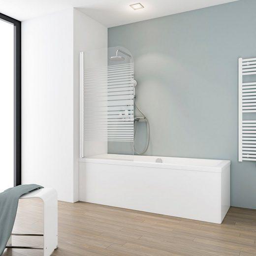 Schulte Badewannenfaltwand »Komfort«, Einscheibensicherheitsglas, (1 tlg), Breite: 80 cm, gestreift