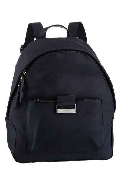 GERRY WEBER Bags Cityrucksack »be different backpack mvz«, in zeitlosen Desing mit silberfarbenen Details
