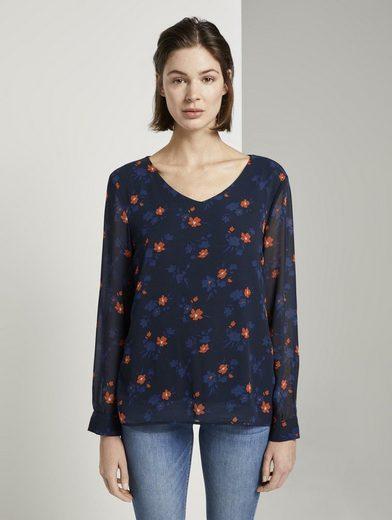 TOM TAILOR T-Shirt »gemustertes Blusenshirt«