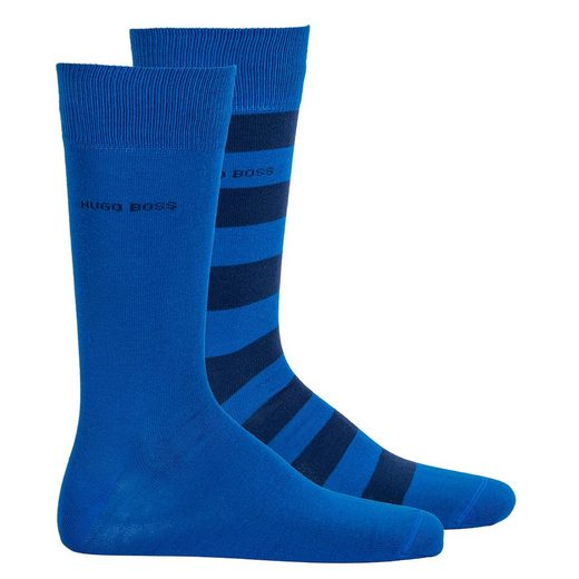 Boss Kurzsocken »Herren Socken 2er Pack - Kurzsocken, BlockStripe«