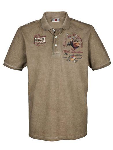 Roger Kent Poloshirt in oil- washed Optik