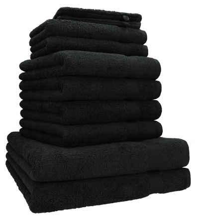 Betz Handtuch Set »10-tlg. Handtuch-Set PREMIUM 100%Baumwolle 2 Duschtücher 4 Handtücher 2 Gästetücher 2 Waschhandschuhe« (10-tlg)