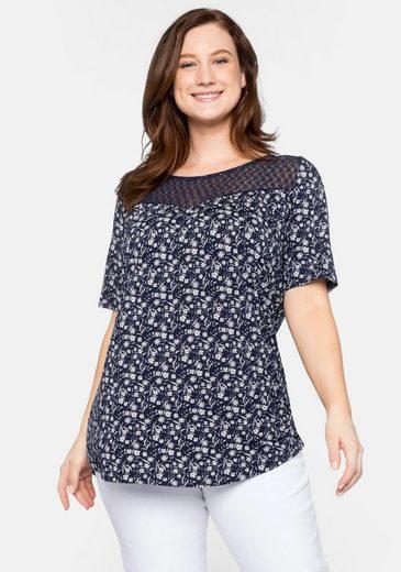 Sheego T-Shirt mit Spitze
