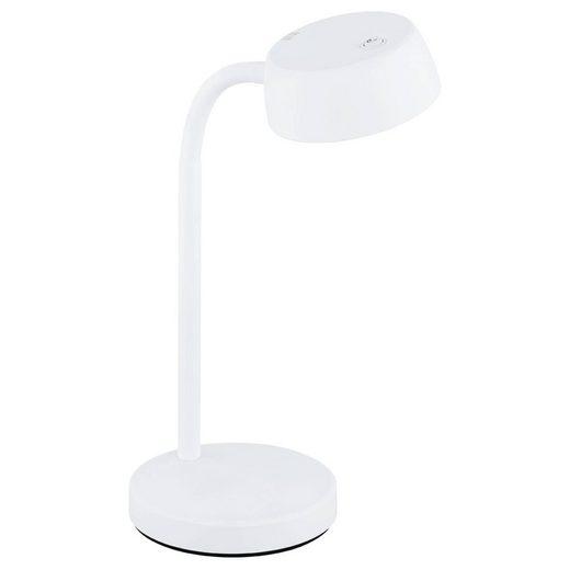 click-licht LED Tischleuchte »LED Tischleuchte Cabales in Weiß 4,5W 500lm«, Tischleuchte, Nachttischlampe, Tischlampe