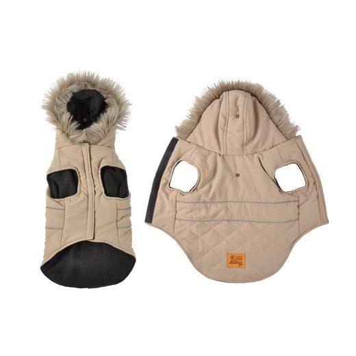 dynamic24 Hundejacke, Hunde Winterjacke Hundemantel Kapuze Hundebekleidung Mantel Jacke