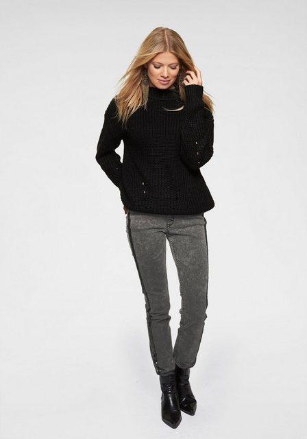 Aniston CASUAL Stehkragenpullover im Mustermix | Bekleidung > Pullover > Stehkragenpullover | Aniston CASUAL