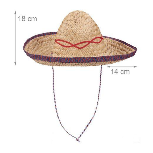 relaxdays Kostüm »Sombrero Hut geflochten«