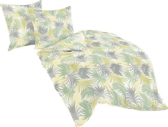Bettwäsche »Green Patterned«, BIERBAUM, mit floralem Muster
