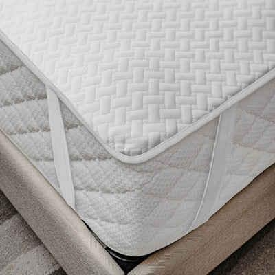 Matratzenschoner »wasserdicht«, Abakuhaus, (1-tlg), atmungsaktives Schutz überwurf elastisch und rutschfest 90x200cm für Einzelbetten