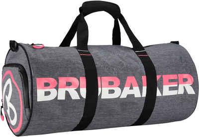 BRUBAKER Sporttasche »Unisex Duffel Bag Trainingstasche« (1-tlg., wasserabweisend), 27 l Fitnesstasche mit Schuhfach und Nassfach