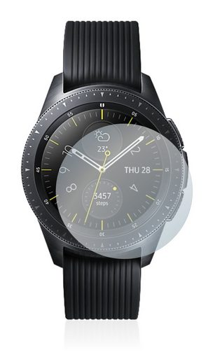 Savvies Schutzfolie »Panzerglas für Samsung Galaxy Watch (42 mm)«, Schutzglas Echtglas 9H klar