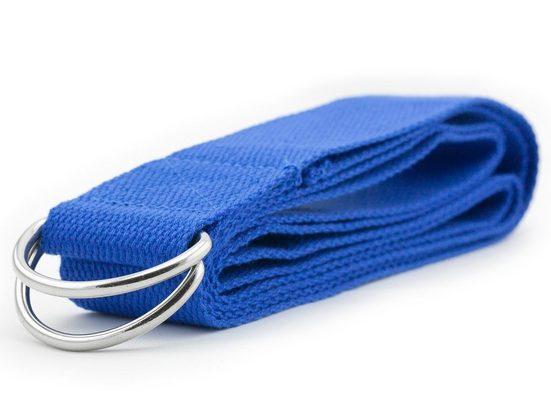 PRECORN Yogamatte »Yogagurt Yoga Stretch Yogaband Sport Fitness Yoga Gurt aus Baumwolle Länge 180 cm mit Metall-Verschluss«
