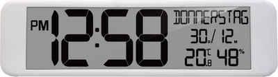technoline Funkwanduhr »WS 8120« (mit Temperatur- und Luftfeuchteanzeige)