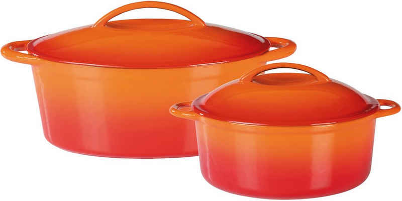GSW Topf-Set »Orange Shadow«, Gusseisen, (Set, 4-tlg), Induktion