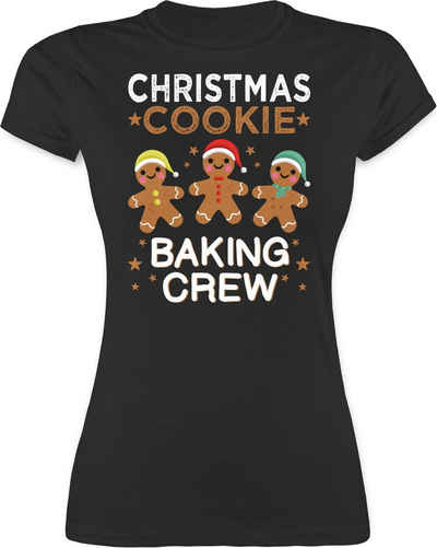 Shirtracer T-Shirt »Christmas Cookie Baking Crew - 3 Kekse - Weihnachten & Silvester Geschenke - Damen Premium T-Shirt« Neujahrsgeschenke Party Deko