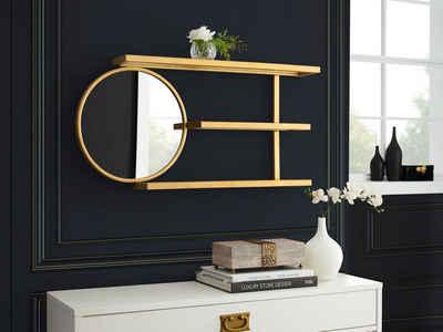 Leonique Wandregal »Moreen«, Zeitloses Design, 3 Ablageflächen, Spiegel