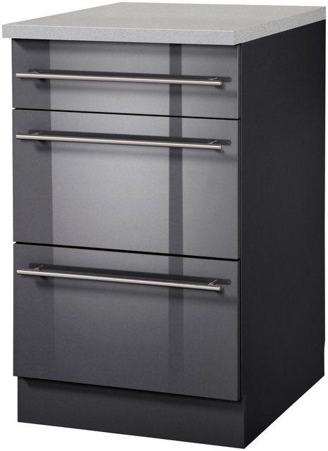 Küchenschränke - wiho Küchen Unterschrank »Chicago« 50 cm breit mit 2 Auszügen  - Onlineshop OTTO