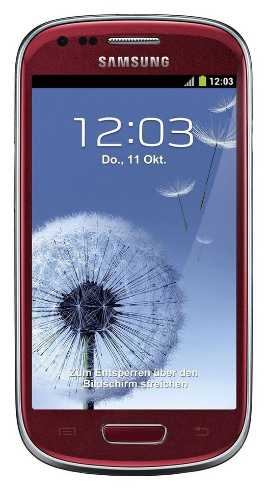 Samsung Galaxy S3 mini - I8190, Smartphone (4 Zoll) Display, Android 4.1, 5 Megapixel in rot