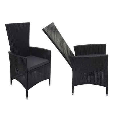 MCW Sitzgruppe »MCW-F49-2xS-verstellbar«, (Set, 2-tlg), Garten, Hohe Rückenlehne, Wasserabweisende Bezüge, Rückenlehne Sessel verstellbar, Bezüge mit Reißverschluss