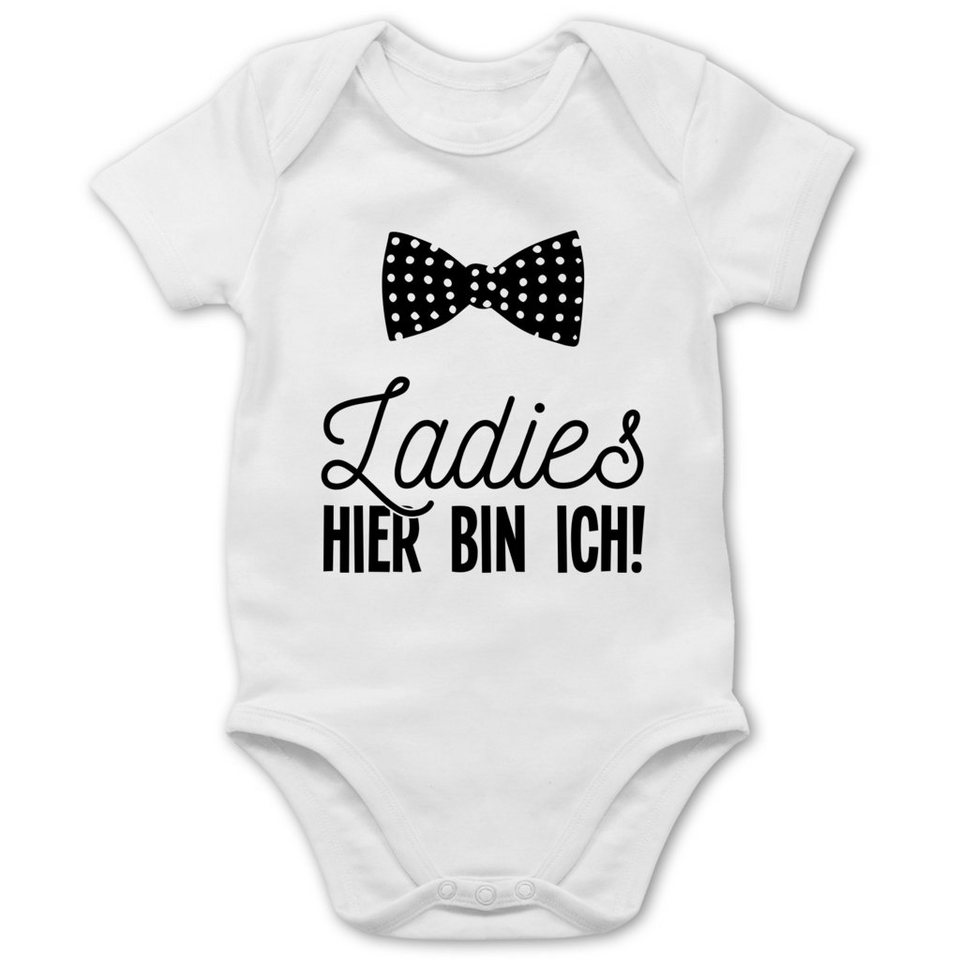 Baby Body für Jungen Ladies? Ich bin da Fun Baby Strampler mit Spruch