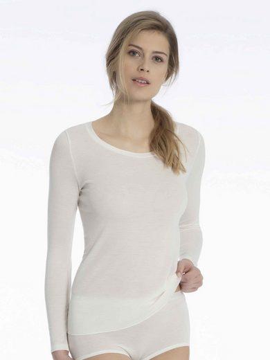 CALIDA Unterziehshirt »Langarm-Shirt aus Wolle-Seide« (1 Stück), Made in Europe