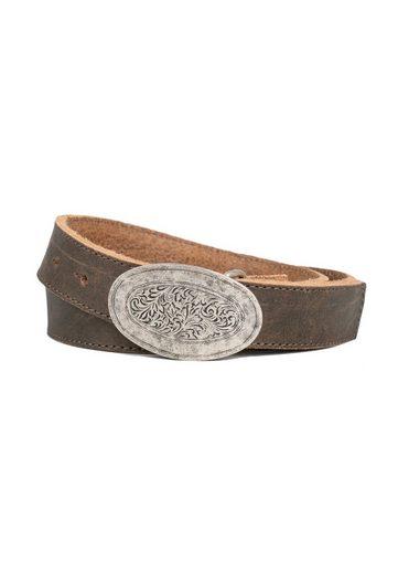 Der Trachtler Ledergürtel »Hias« mit filigraner Koppelschließe