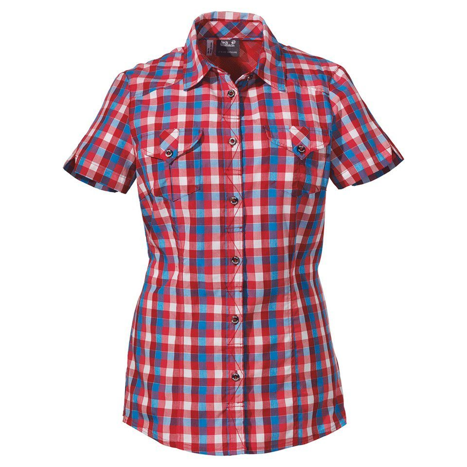 Jack Wolfskin Bluse »FARO SHIRT WOMEN« in hibiscus red checks