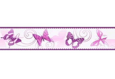 living walls Bordüre »Stick Ups«, glatt, Borte mit Schmetterlingen Kinderzimmer, selbstklebend