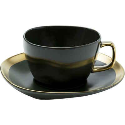 KARE Tasse »Kaffeetasse Vibrations 2Set«, Stein u. Keramik