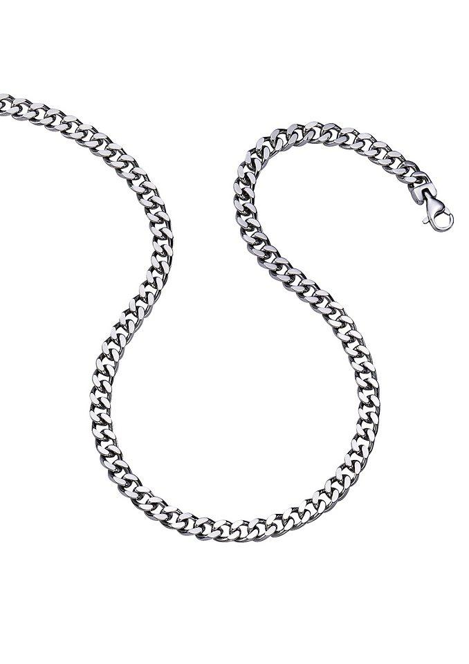 firetti Halsschmuck: Halskette in Panzerkettengliederung in silberfarben