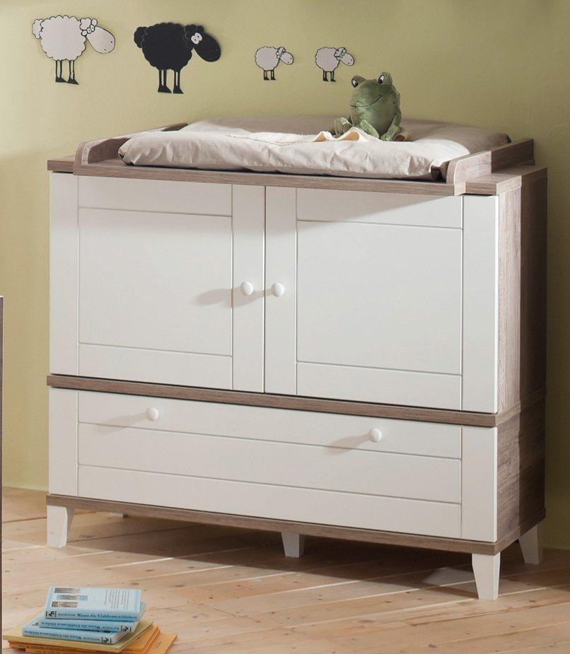 wickelkommode zur babym belserie bella in wildeiche. Black Bedroom Furniture Sets. Home Design Ideas
