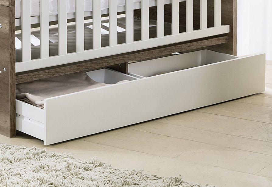 unterbett schublade schubkasten f r die babym bel serien nick und usedom in wei matt online. Black Bedroom Furniture Sets. Home Design Ideas