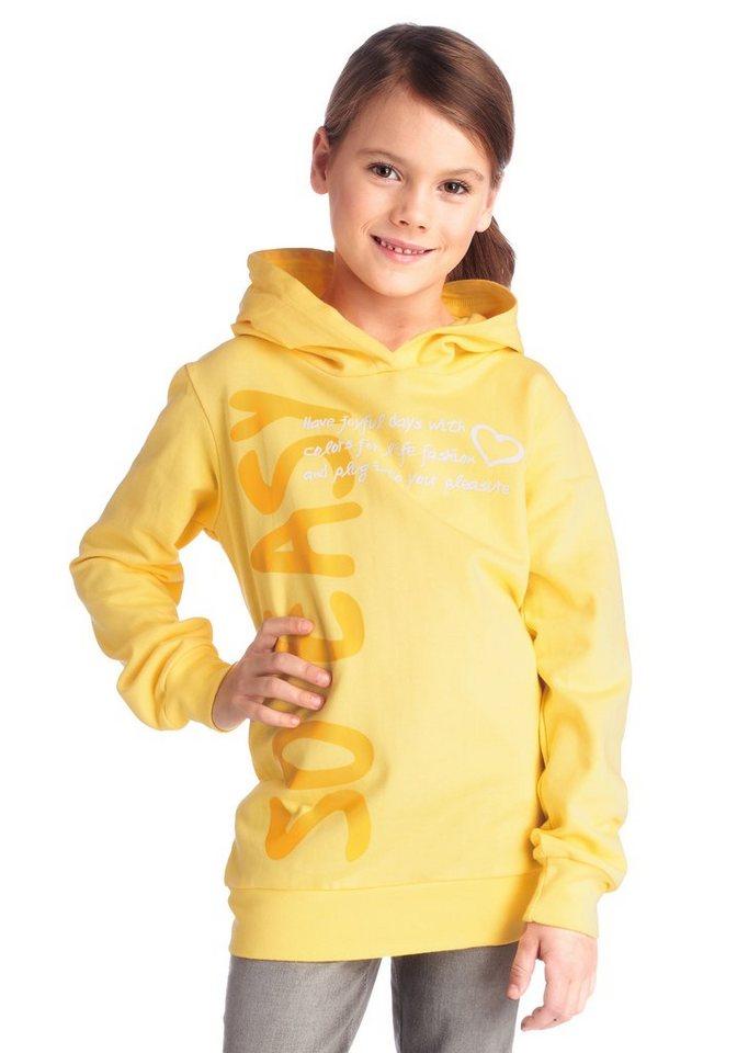 "CFL Kapuzensweatshirt ""SO EASY"" Druck vorn in gelb"