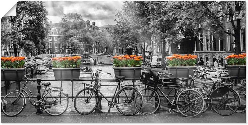 Artland Wandbild »Amsterdam Herengracht I«, Fahrräder (1 Stück), in vielen Größen & Produktarten -Leinwandbild, Poster, Wandaufkleber / Wandtattoo auch für Badezimmer geeignet