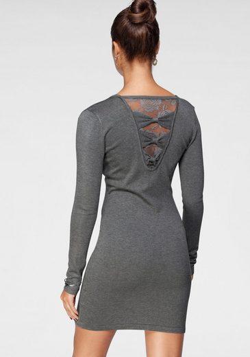 Melrose Strickkleid mit Schleifen und Spitze am Rücken