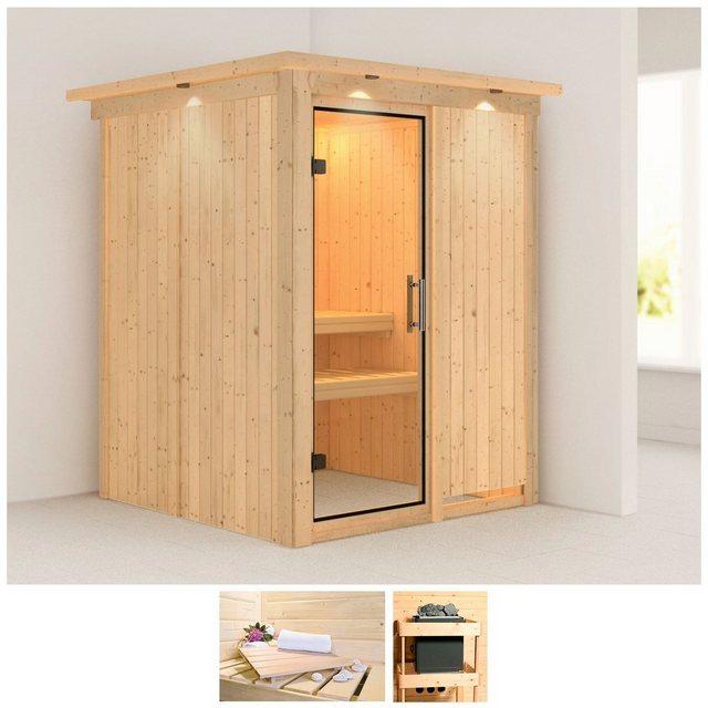 Saunen und Zubehör - KARIBU Sauna »Minja«, 165x165x202 cm, ohne Ofen, Dachkranz  - Onlineshop OTTO