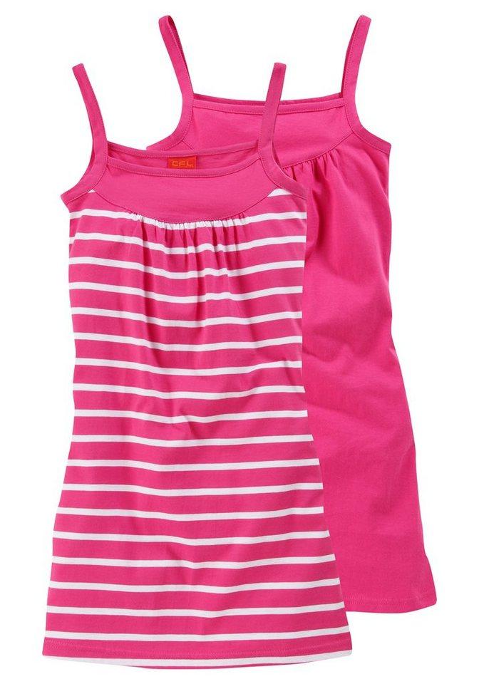 CFL Trägerkleid (Packung, 2 Stück), für Mädchen in Pink-Weiß